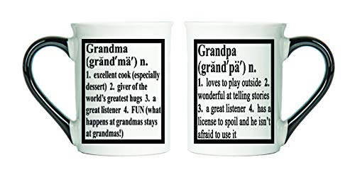 Grandma and grandpa mug set.