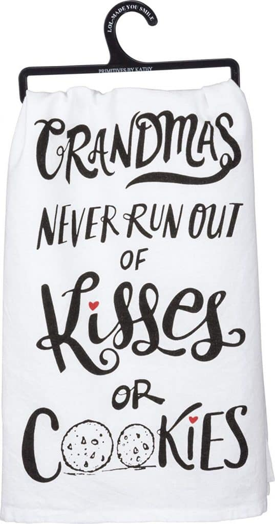 Grandmas never run out of kisses towel.