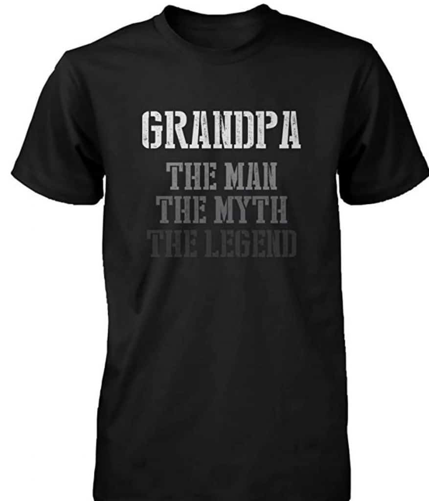 Grandpa man, myth, legend t-shirt.