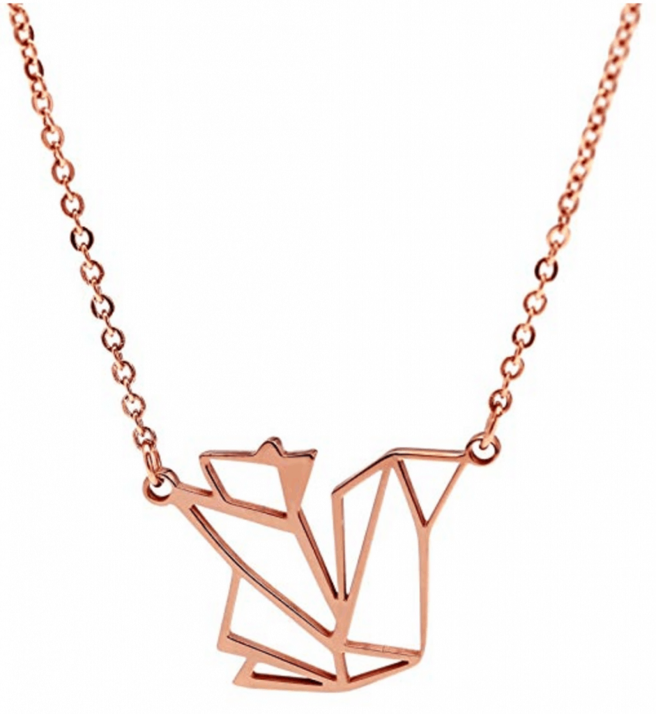 Hanfly 18K plated squirrel necklace.