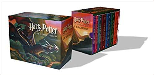 Harry Potter paperback book box set.