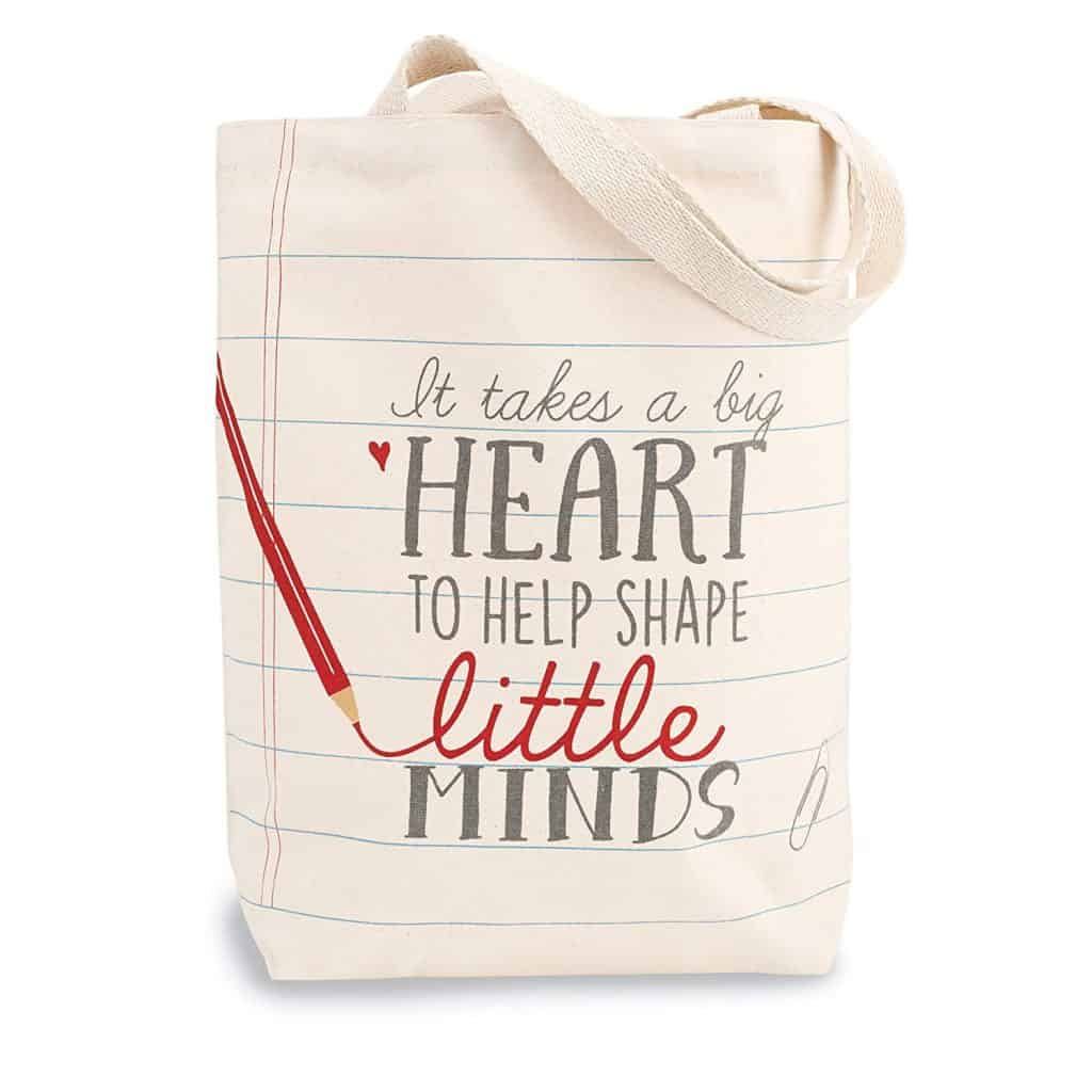 mud pie teacher canvas tote.