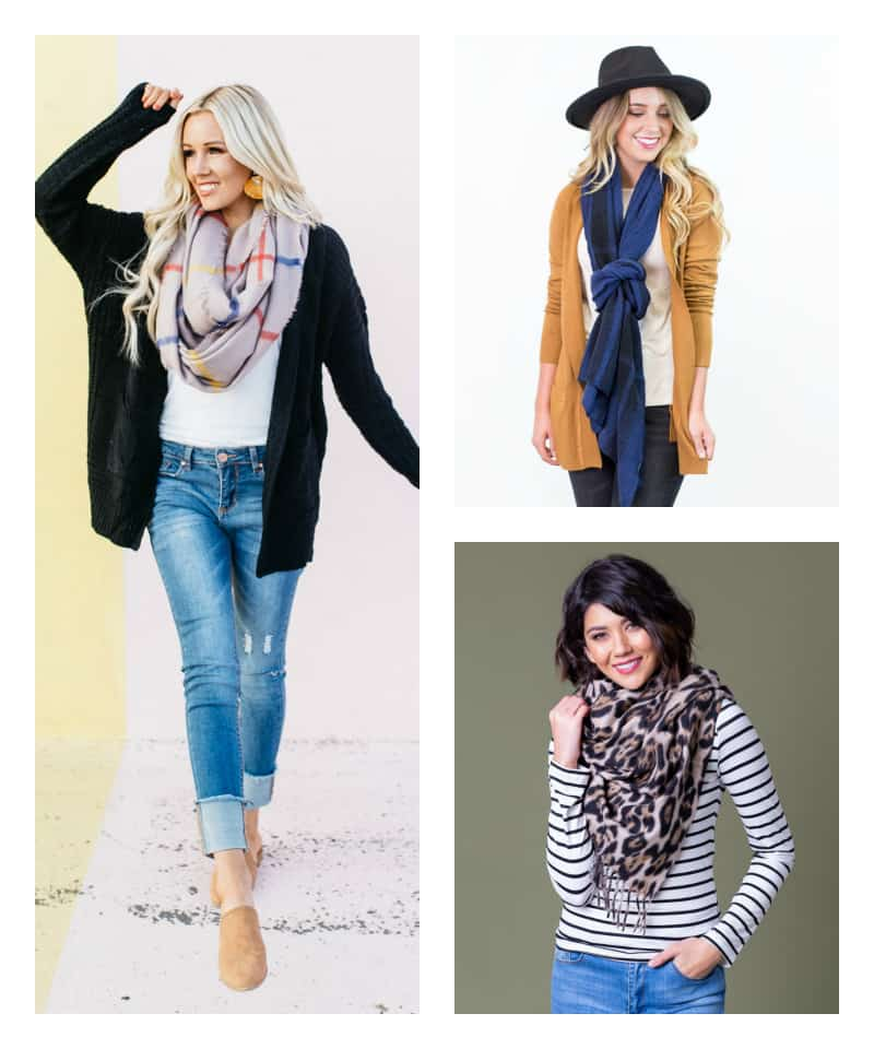 many ways to wear a scarf
