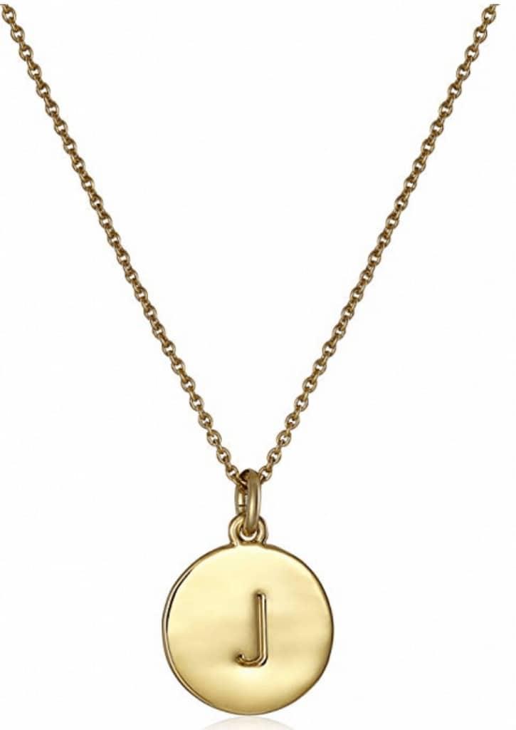 Kate Spade alphabet pendant necklace.