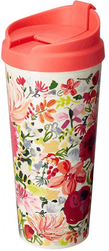 Kate Spade dahlia thermal mug.