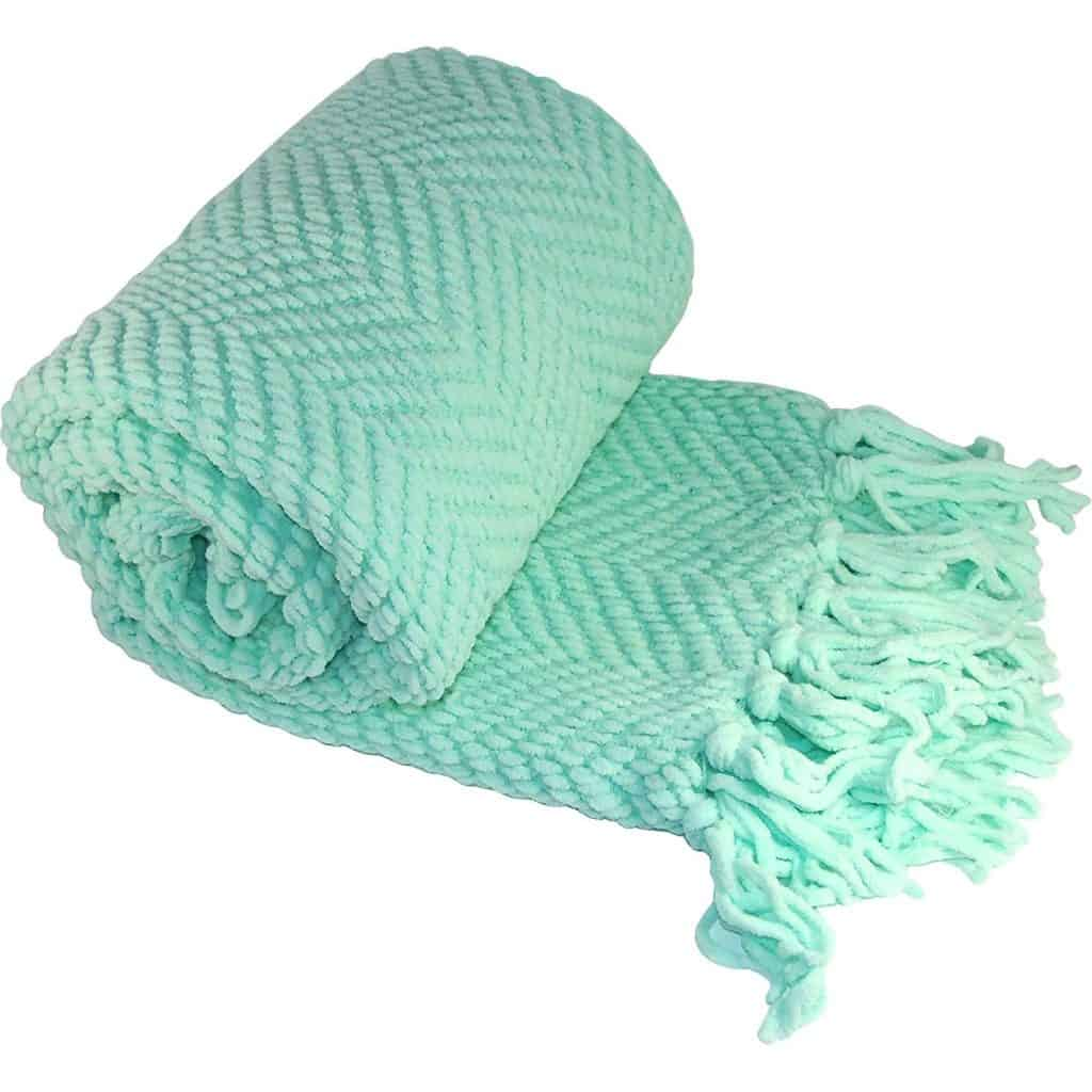 Boon knitted throw blanket,