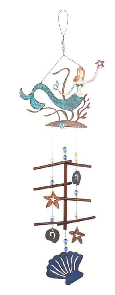 land and sea mermaid wind chime