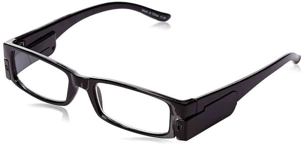 Lighted reading glasses.
