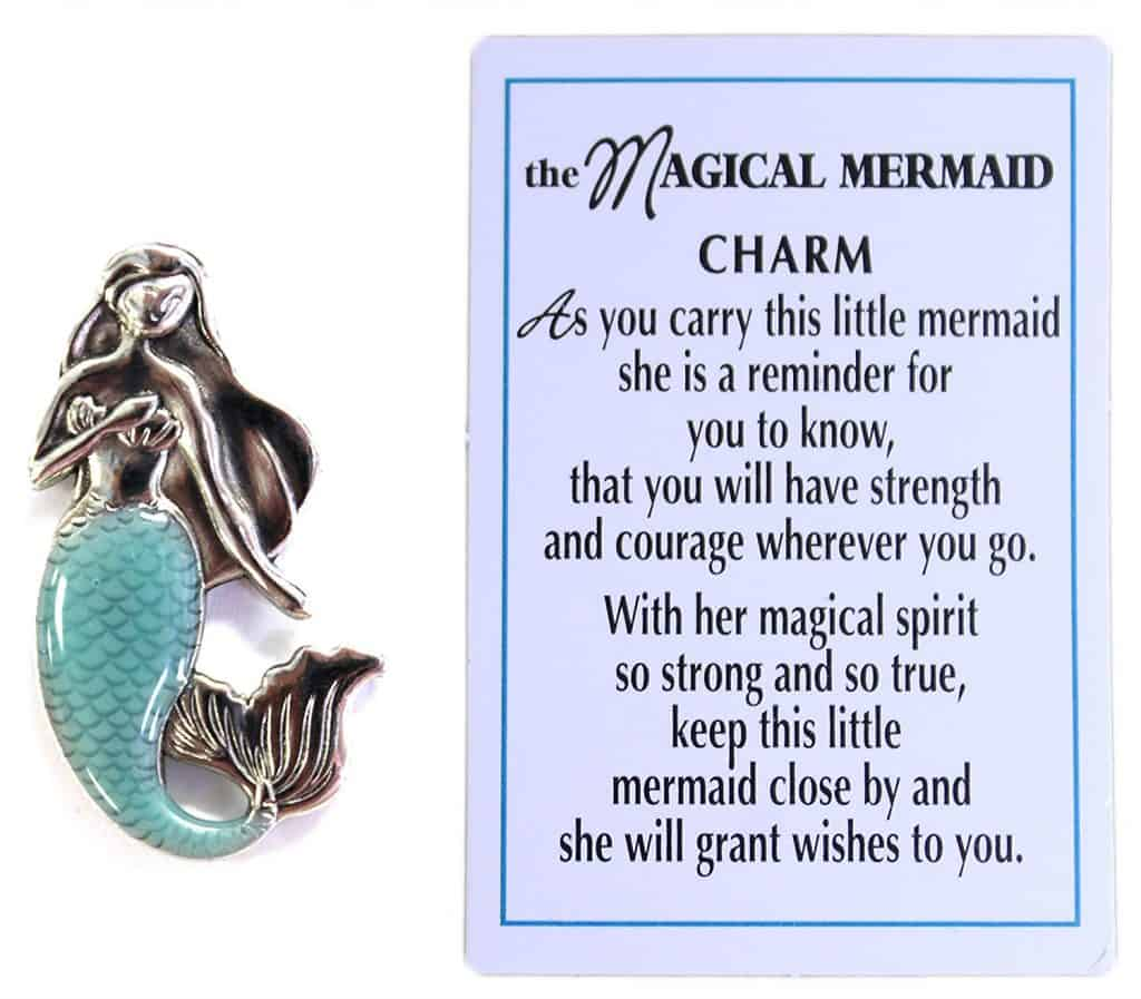 magical mermaid charm and sign
