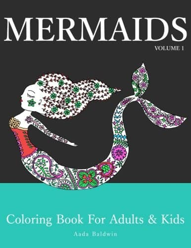 mermaid adult coloring book