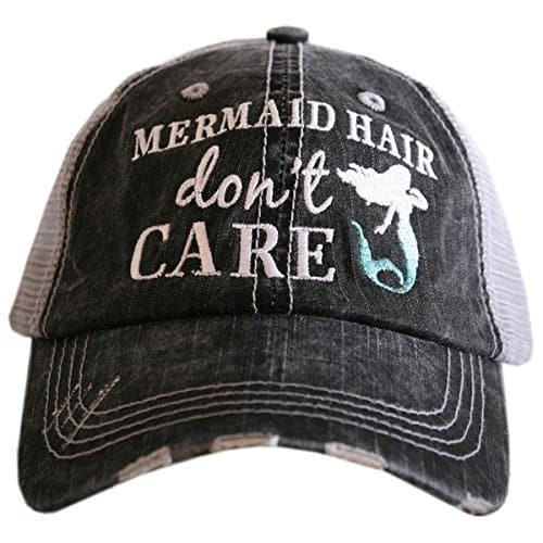 Mermaid hair don\'t care hat.