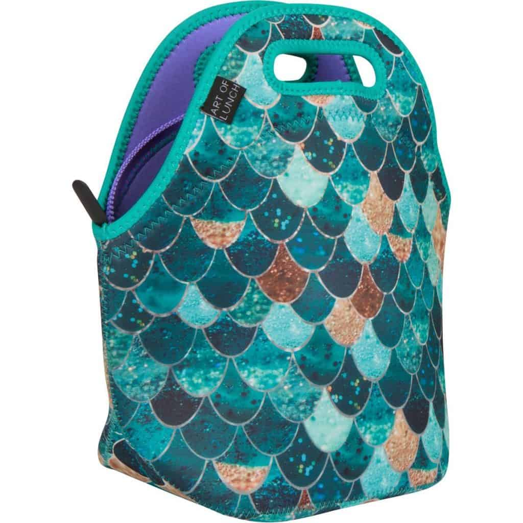 Mermaid lunch bag.