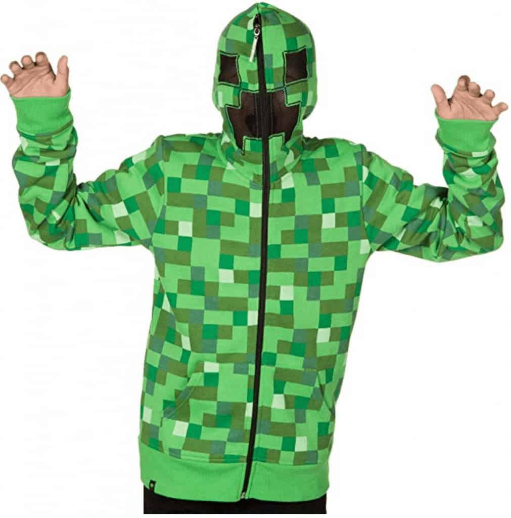 Minecraft Creeper zipper hoodie.