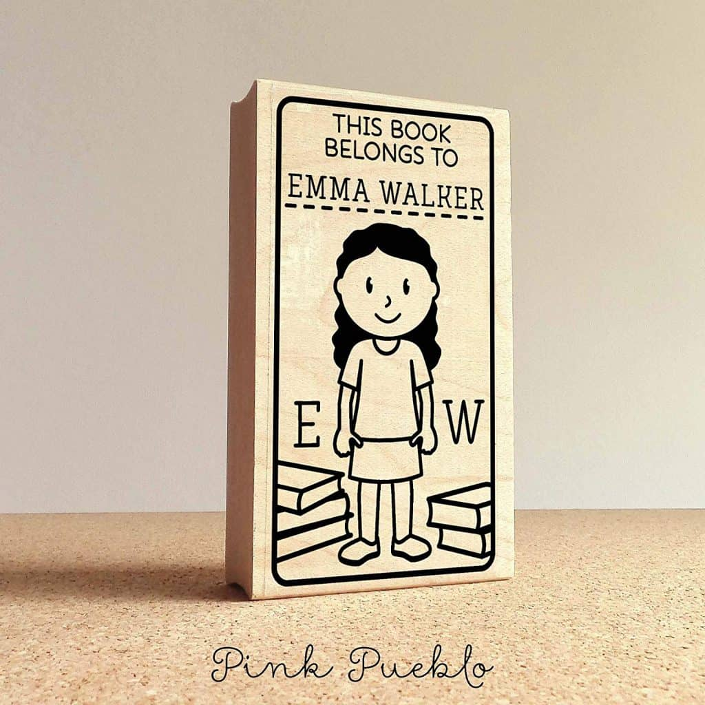 Bookplate personalized stamp.