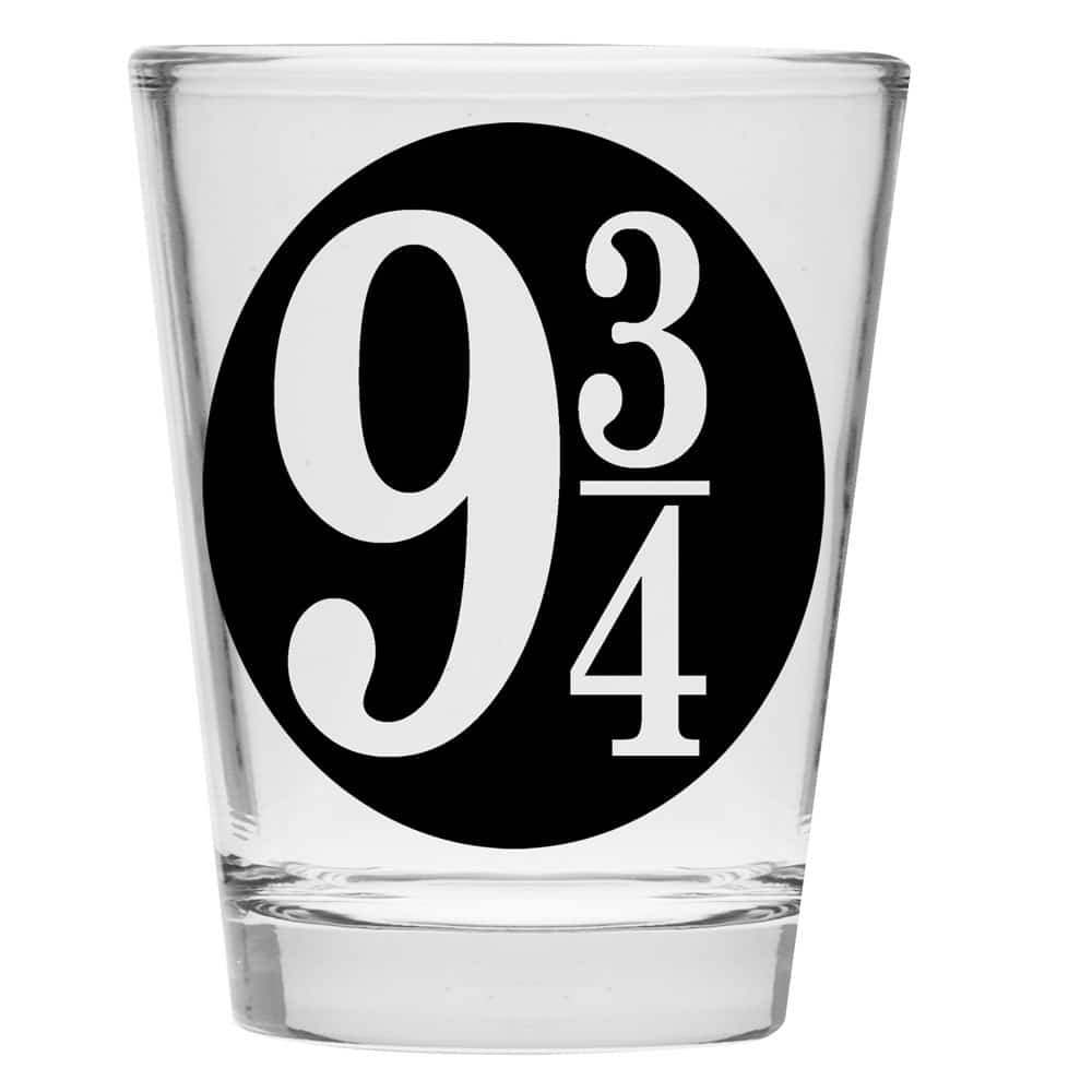Platform 9-3/4 shot glass.