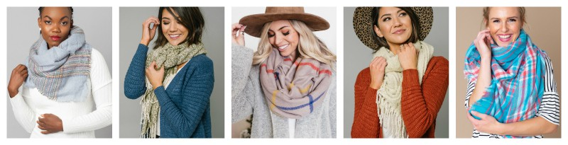 different kinds of scarves