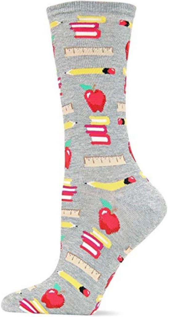 Hot sox teacher socks.