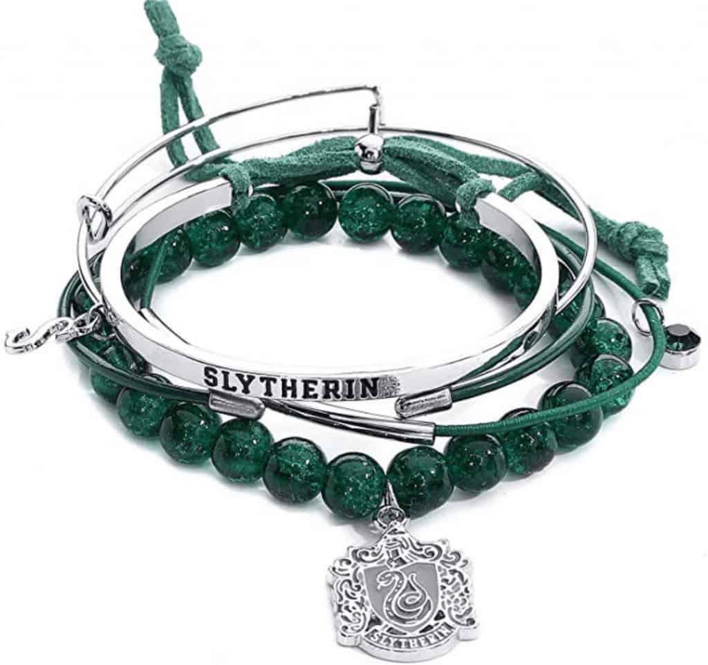 Slytherin wrap bracelet.