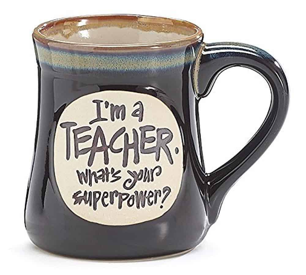 Teacher superpower mug.