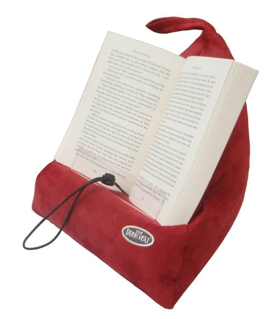 The book seat pillow and book holder.