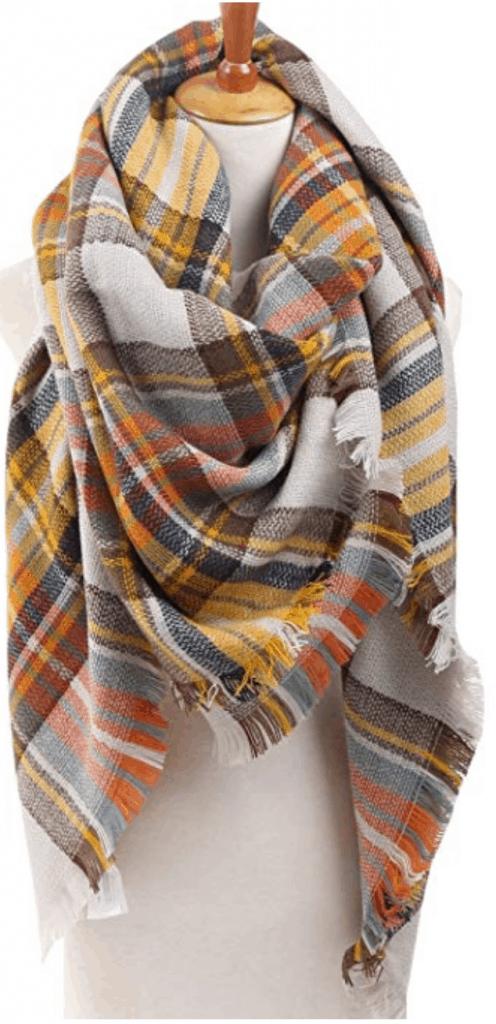 Infinite challenge plaid blanket scarf.