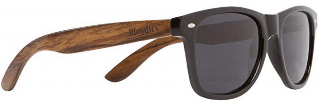 Woodies walnut sunglasses.