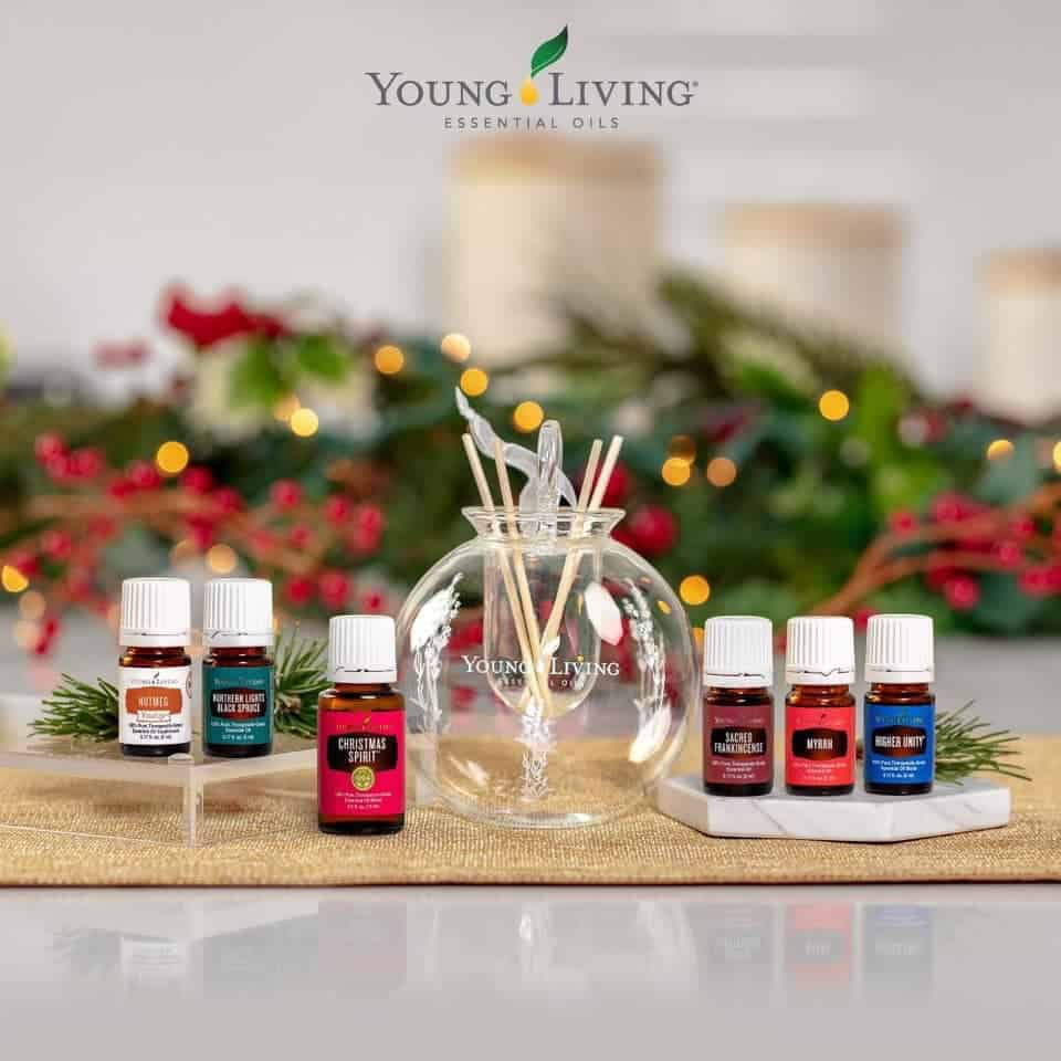 Christmas essential oils from Young Living.