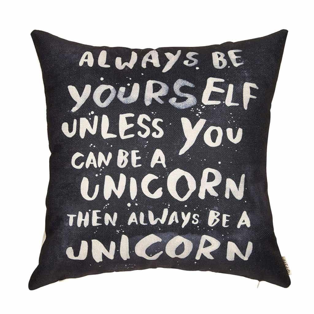 Always be a unicorn throw pillow.