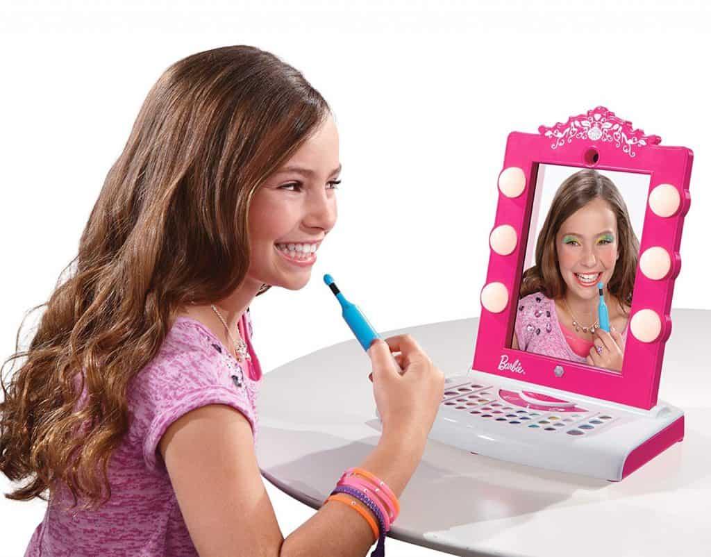 Digital Barbie makeover mirror.
