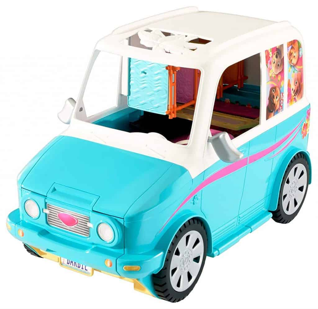Ultimate Barbie puppy mobile.