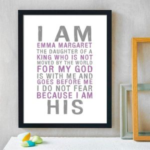 Personalized I Am His Prints $6.99 (Was $20)