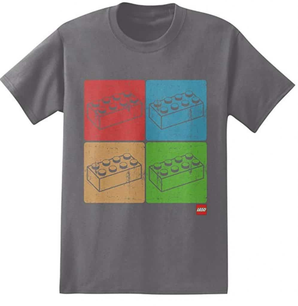 lego four blocks adult shirt
