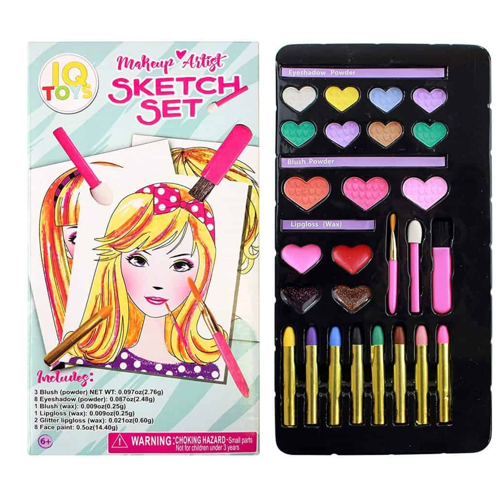 Barbie makeup artist sketch set.