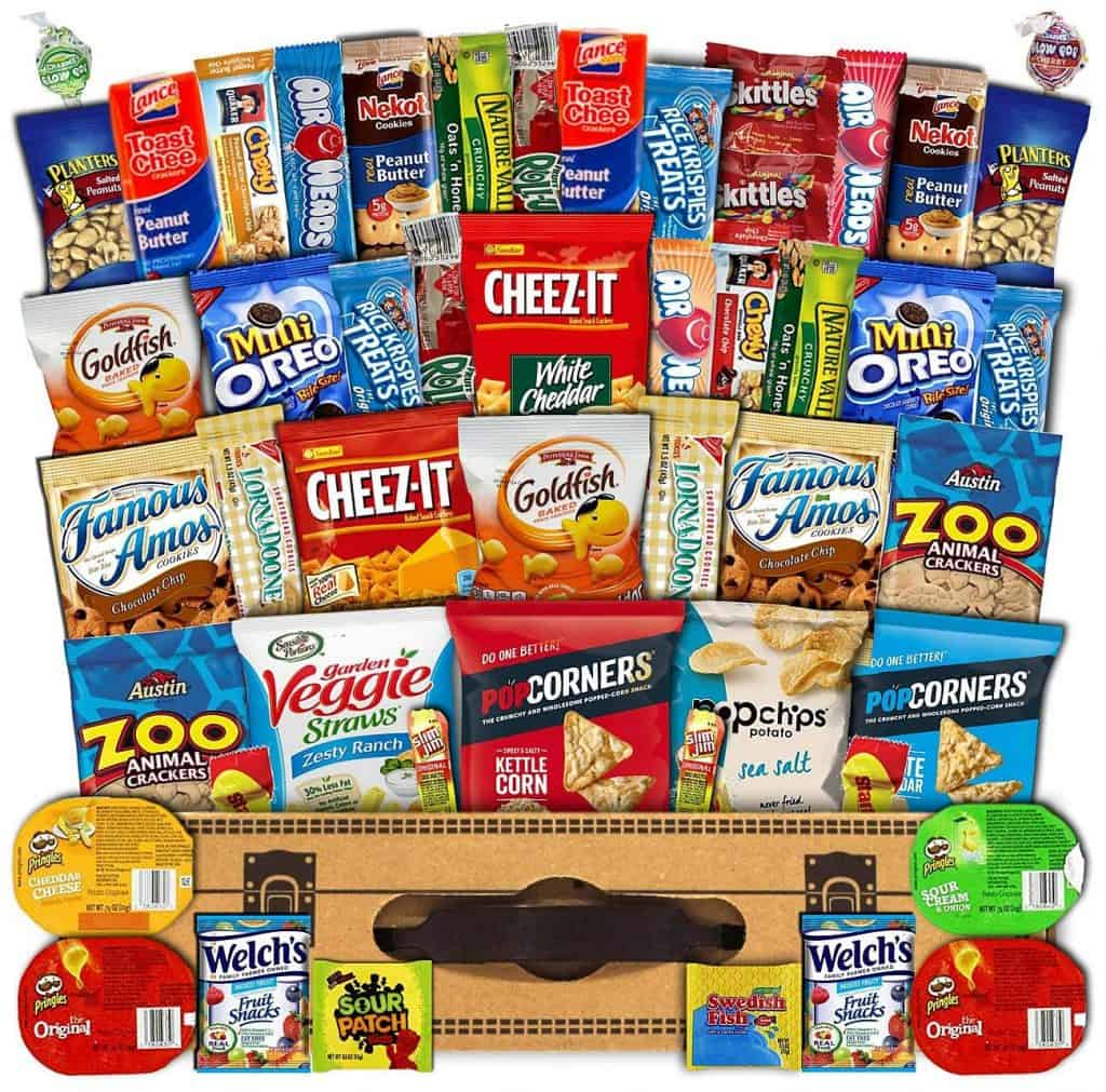 Mega snacks variety pack care package.