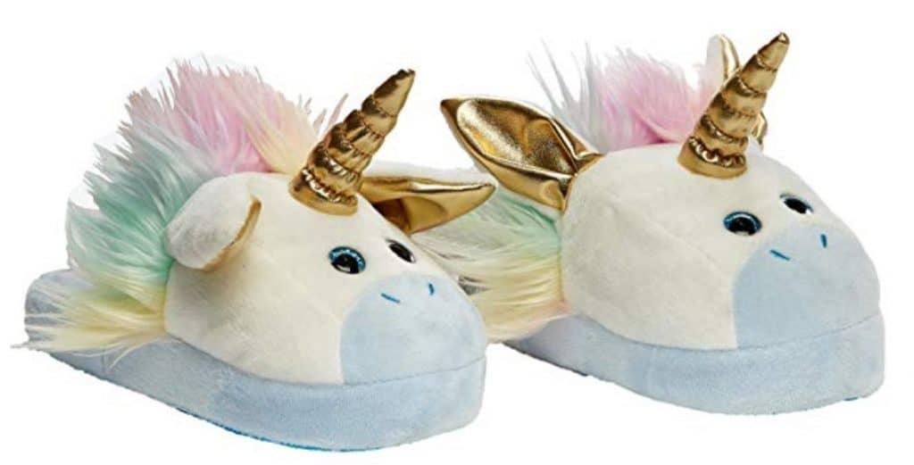 Stompeez unicorn slippers.