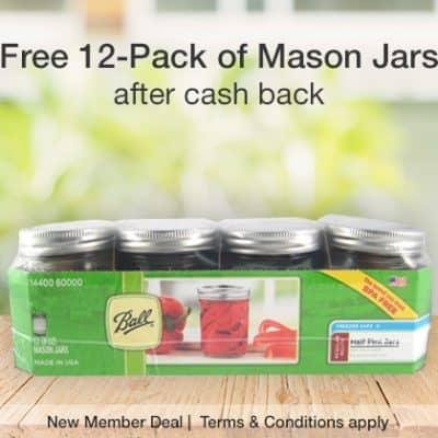 Free Ball Mason Jars 12-Pack