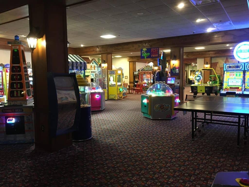 Family game room at Bavarian Inn Frankenmuth