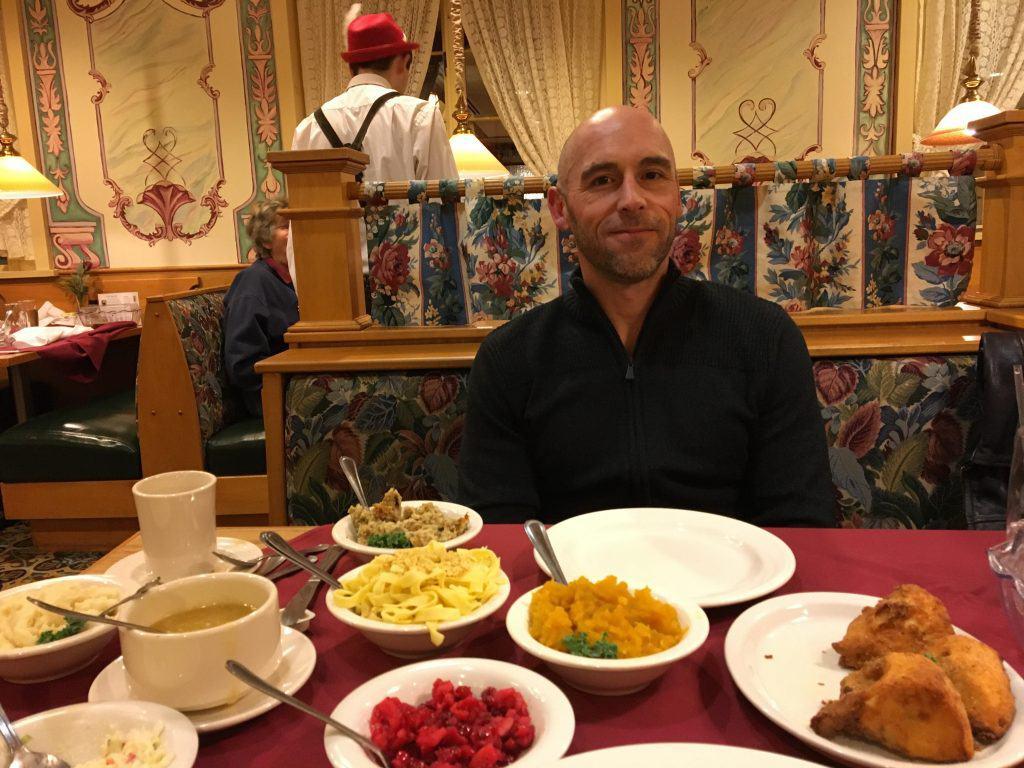 Eating dinner at Bavarian Inn Frankenmuth