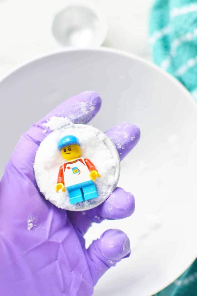 Calming Bath Fizzies for Kids With Lego toy Inside