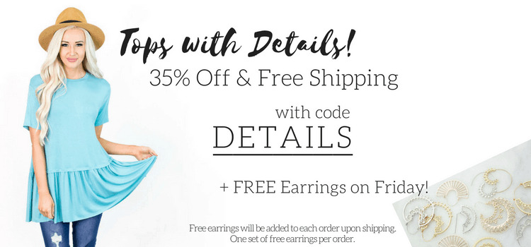 Cents of Style Sale: Free Earrings