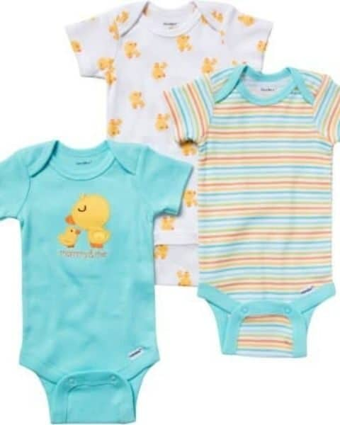set of three Gerber onsies