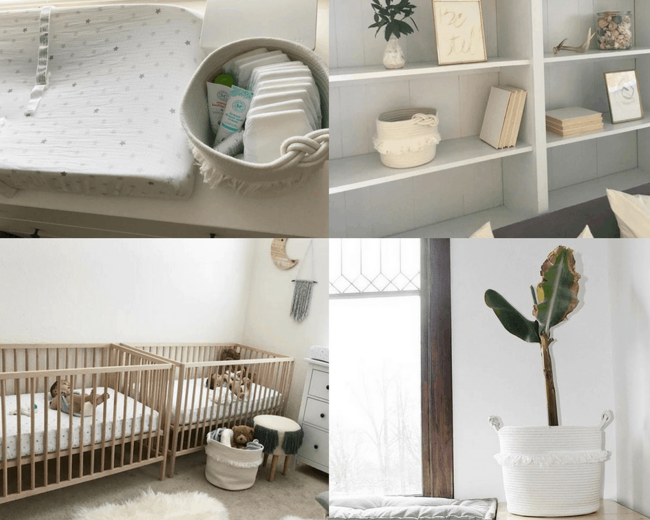 Different ways to use decorative basket from Pillowfort