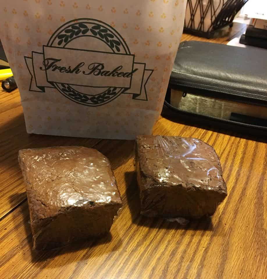 A couple of loaves of delicious breads and brownies.