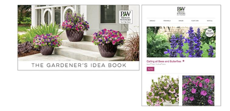 The gardener\'s idea book.