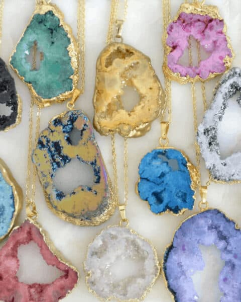 Geodes necklaces