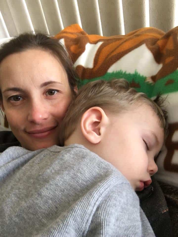 Kristie of Saving Dollars and Sense (and grandson).