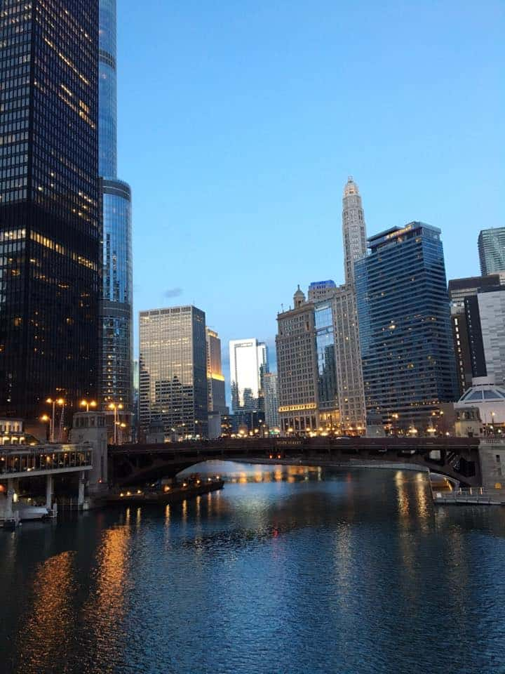 A large body of water in the city of Chicago.