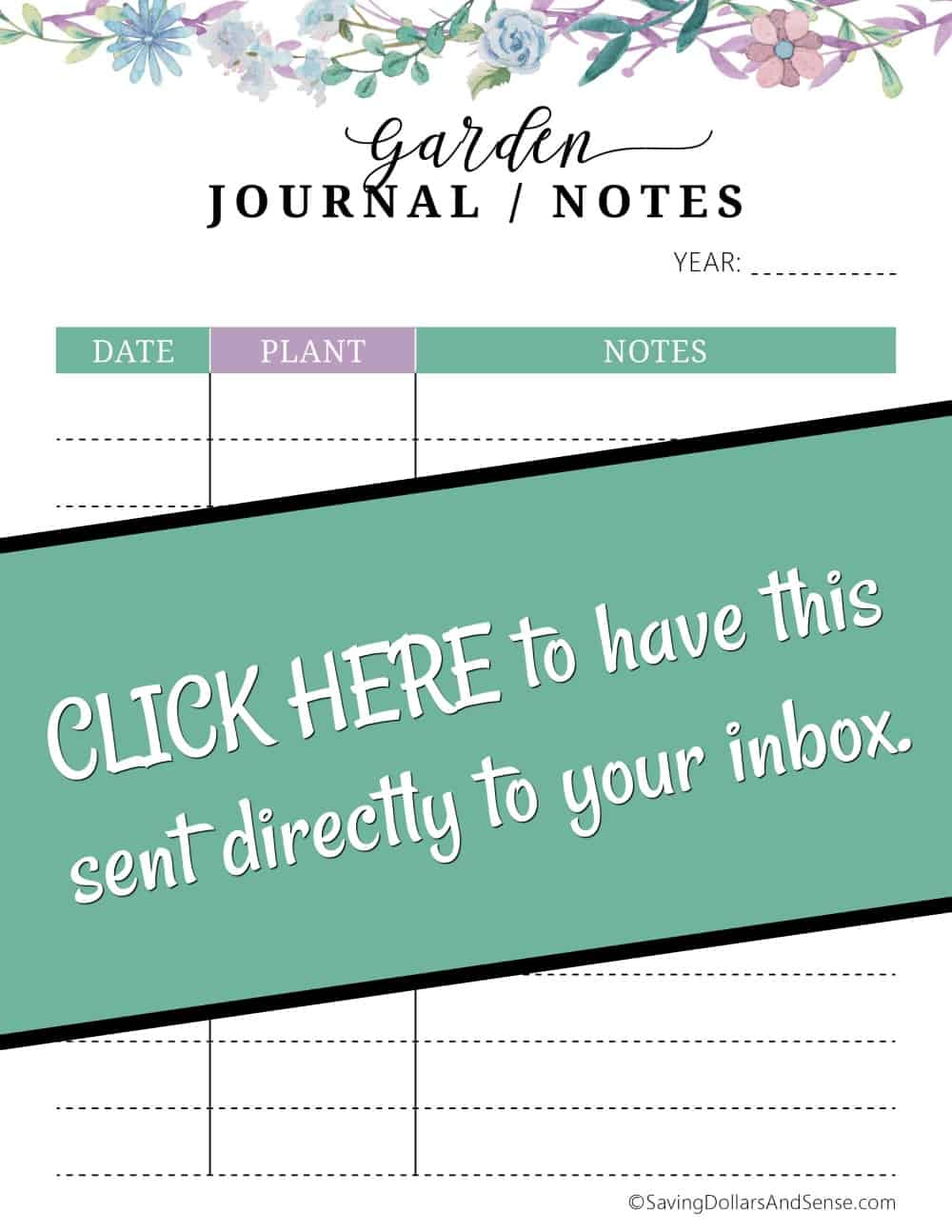 Garden journal notes PDF