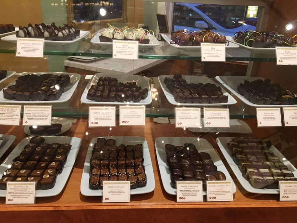 A variety of gourmet chocolates in Chicago.