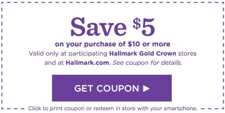 Hallmark card coupon. Save money on your Hallmark cards.